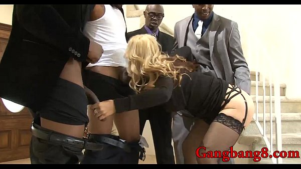 Huge boobs blonde babe gets dped by massive black cocks... thumbnail