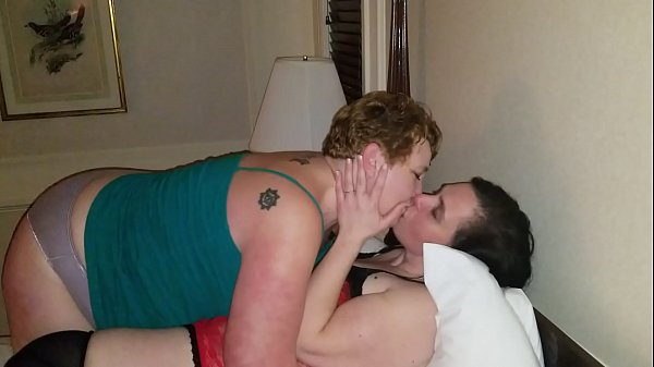 Chubby ladies kissing, intense make out. Lucky husband watches. Bbw Thumb