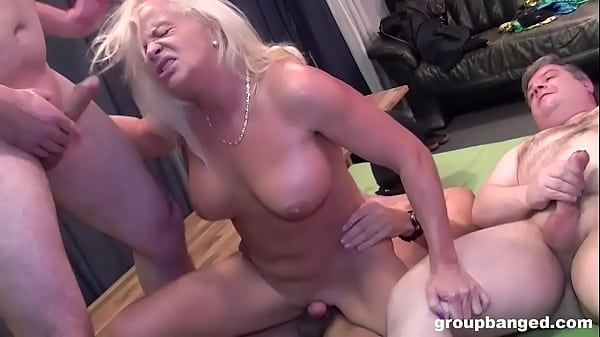 Guys Playing with Granny at GroupBanged Thumb