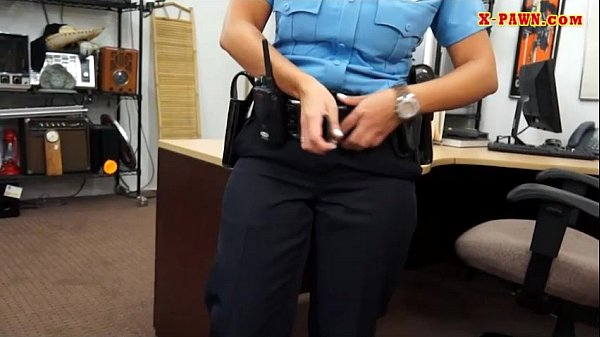 Latin police woman pounded by pawn guy