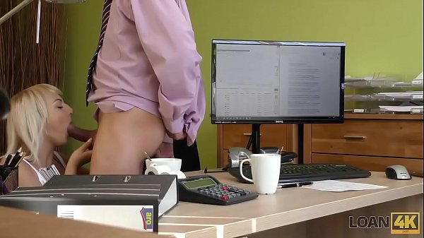 LOAN4K. Agent penetrates juicy vagina of sweet client from LOAN4K. behind