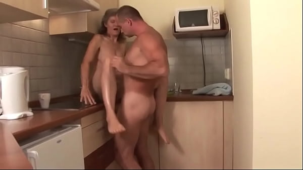 Hungarian granny gets fucked in the kitchen Thumb