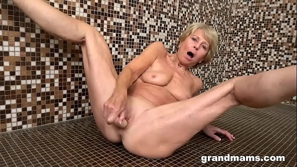 70 Year Old Dry Pussy gets Wet