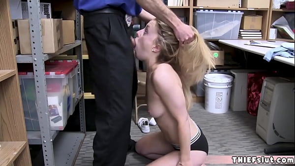 Pretty blonde office worker chick busted at the...