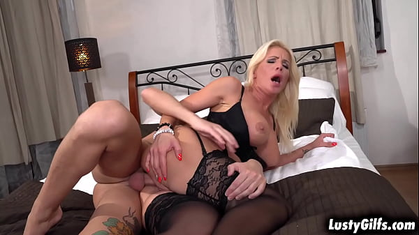 Busty MILF Tiffany Rousso is on the hunt for a cock to feed her hungry Pussy, and her eye is set on his stepsons monsterous cock