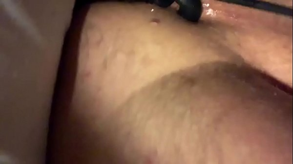 Stroking my cock with cock ring and prostrate gizmo Thumb