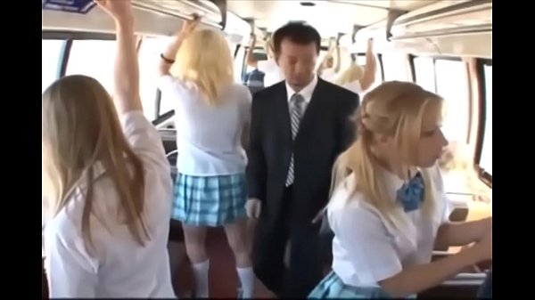 School girl in a bus