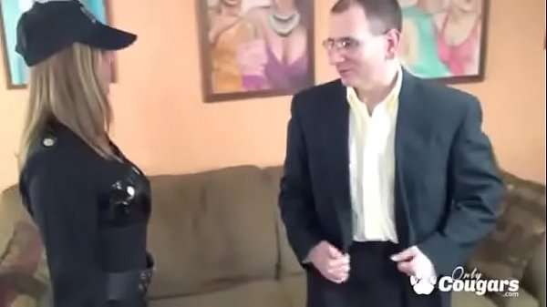 Busty Cop Gives Up The Pussy