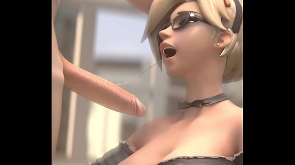 Mercy the made giving a nice ass blowjob