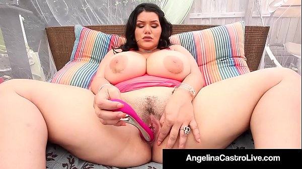 Curvy Cuban Angelina Castro Bangs Her Box With Her Sex Toys