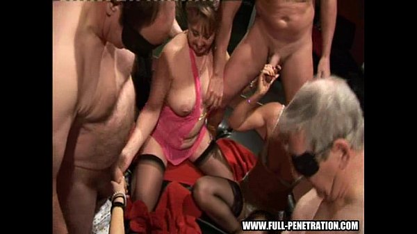 Sex party - Gangbang fuckers at a real sex club
