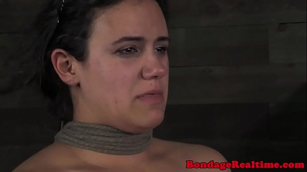 BDSM sub Penny Barber feet in ice water