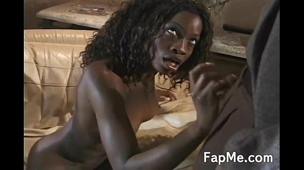 Sexy black girl doing a hard cock