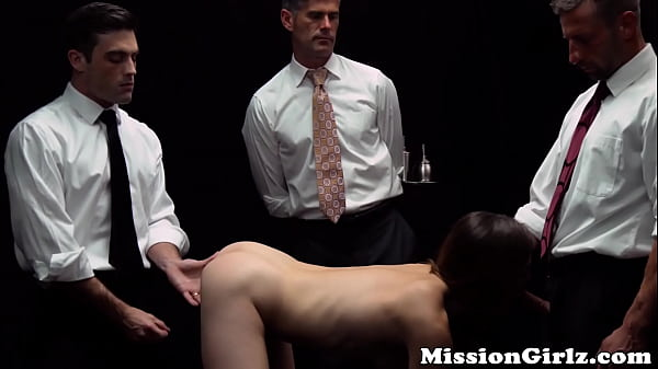 Young Mormon babe 3way banged into submission before facial