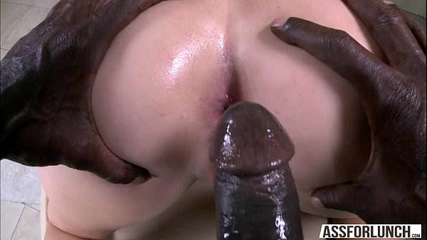 Babe Maddy gets her tight butt hole rammed hard by a big cock