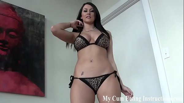 Eat a hot load of your own cum in front of me CEI