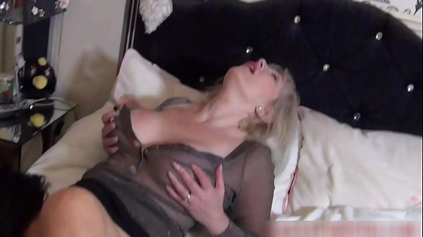Cougar Christie fucks her friend with strap-on then gets licked to orgasm