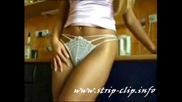 Getting undressed in the kitchen, very sexy moves! naked for the cam! Hot blonde!