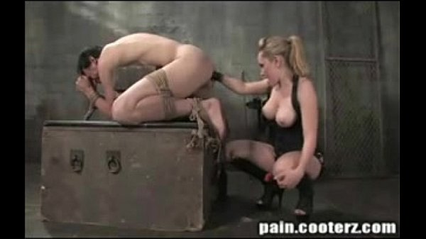 Blonde Dominatrix with gorgeous tits and her boy Thumb