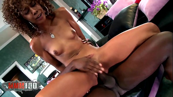 Beautiful skinny black babe fucked by huge cock