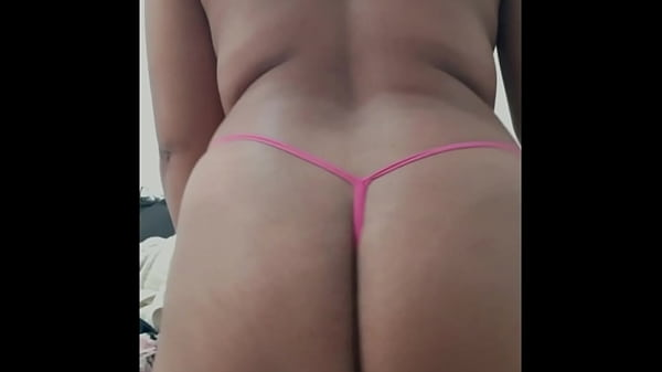 Kitty in thong panties, shaking his ass on a video call to Mutt. Thumb