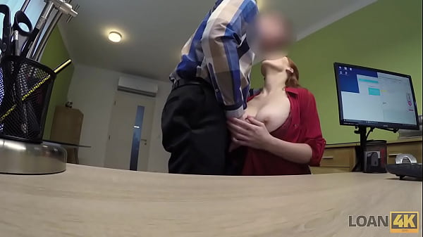 LOAN4K. Redhead has spontaneous sex in the office with loan agent