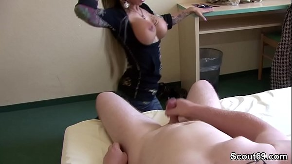 German Big tit Teen help Step-Bro with perfect ...