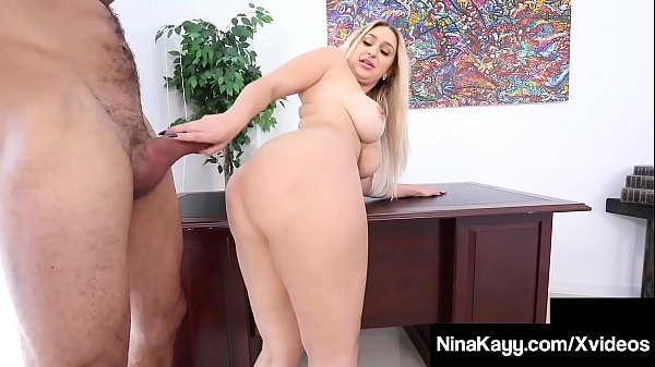 Big Booty Boss Nina Kayy Silenced By Big Cock Latino Intern! Thumb