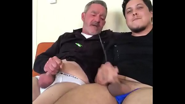 dad and son cum