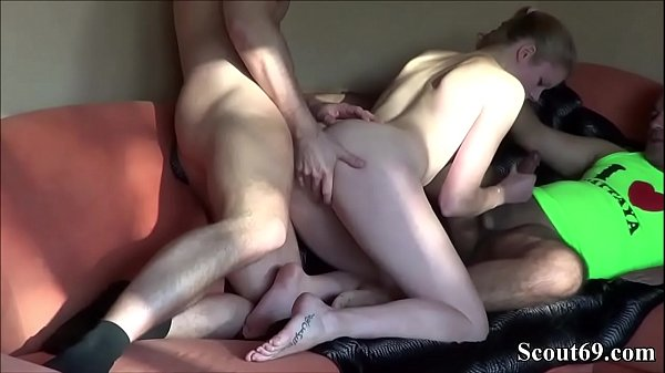 YOUNG GERMAN TEEN CLAUDI in Real AMATUER THREESOME
