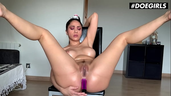 DOEGIRLS - Julia De Lucia - Romanian Babe Pounds Her Ass With Dildo And Squirts On Cam