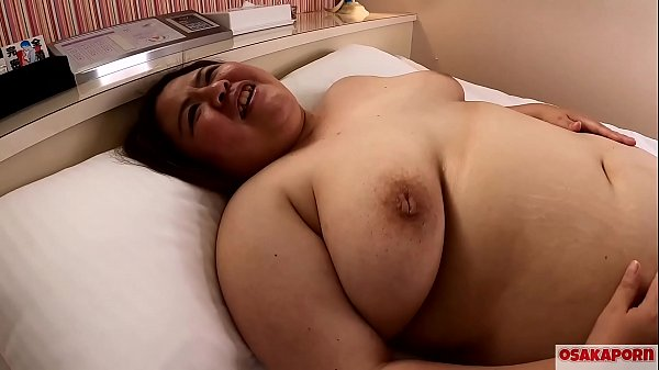 Super fat cute Japanese girl with big saggy tit...
