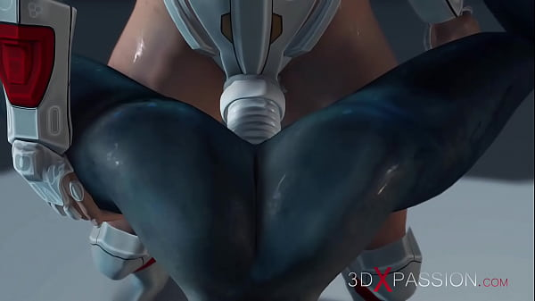 Hot sex on the exoplanet! An alien gets fucked by a spacewoman in spacesuit with strapon