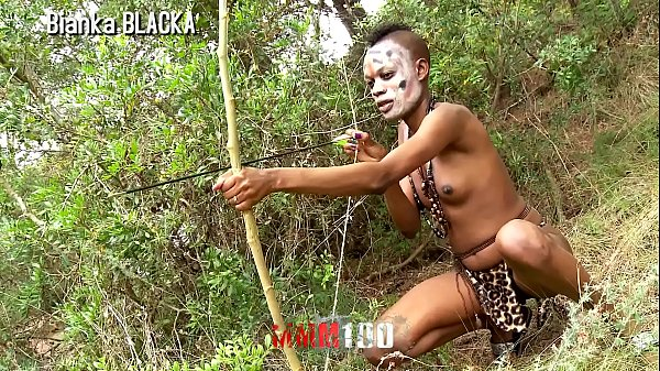 Trailer : Skinny Ebony Hunter in her Porn sex safari