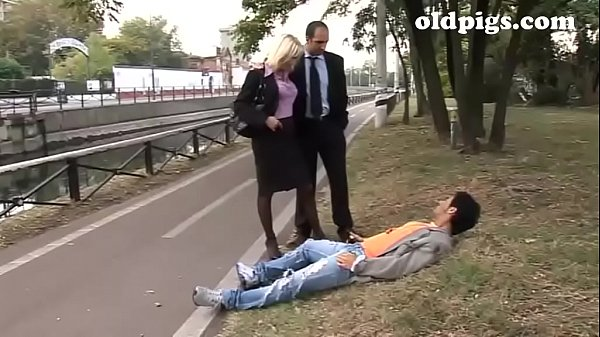 Mature couple picks up a drifter for a threesom...