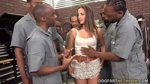 Amirah Adara Sucks An Entire Crew Of Black Guys Thumb