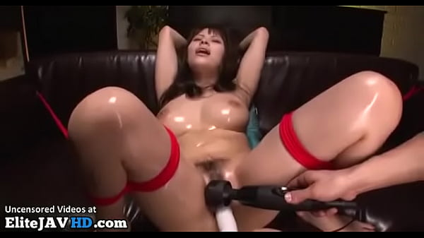 Busty Japanese with oiled tits gets cumshots