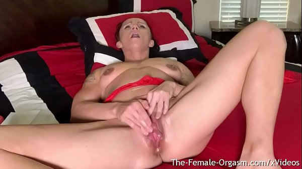Fit MILF Kora Angel Masturbates Her Large Throbbing Clit Until She Cums Hard