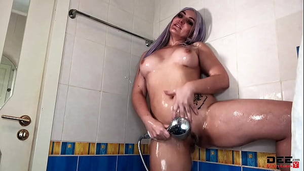Girl Showers & Fucks Herself Sex Toy While No One Is Home