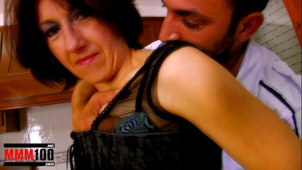 Mature housewife ass fucked in the kitchen and facial cumshot