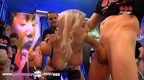 Daisy Lee gets shared and creamed in gangbang Germangoogirls