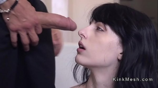 Strapped pale babe gets anal fucked