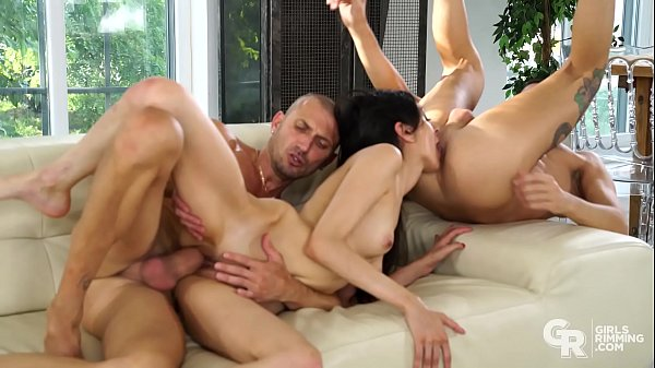 GIRLSRIMMING - Crazy rimming threesome with ski...