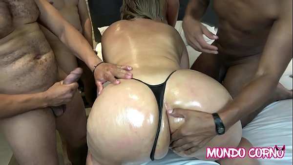 ANAL - GANGBANG WITH AN INSATIABLE CUCKOLD WIFE FOR SEX Thumb