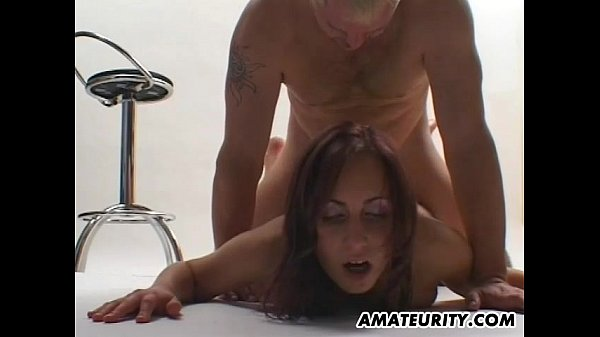 Busty amateur girlfriend sucks and fucks with f...