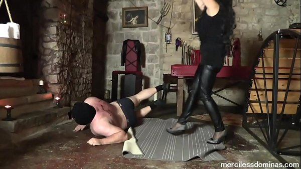 High Heels Destruction of Bitrack - Lady G and Mistress Pandora Destroying the Slave's Back Thumb