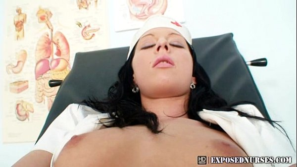 Nasty Nurse Uniform Gabina Dildo Masturbation