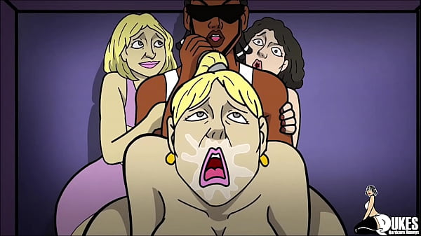Three big booty married Arab bitches getting fucked by big black dick
