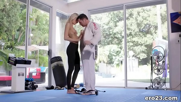 Emma Hix and her MMA trainer
