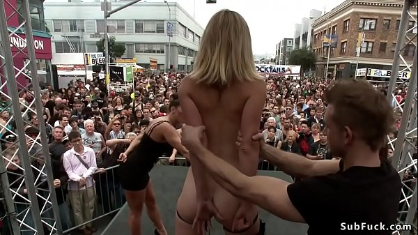 Small tits blonde is d. in public Thumb